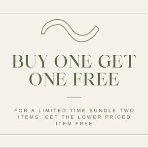 BUY ONE GET ONE FREE ALL ITEMS